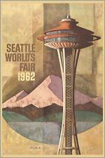 SEATTLE'S world fair 1962 CITY LANDMARK mountains landscape 24X36 HOT NEW
