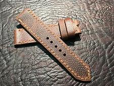 Horween waxy brown scotch grain 22mm watch strap.