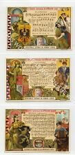 Full Set, Liebig (OXO) S593, National Anthems II (X6) 1899 VG-EX (Gb3057-322)