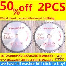 "Carbide Circular saw blade 10inch 250mmX60T+9""230mmX60T wood plastic TCTwasher20"