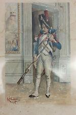 GRENADIER DE L'EMPIRE - AQUARELLE SIGNEE M. CHESNEAU - 1903 - 33 x 24  cm