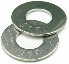 316 Stainless Steel Flat Washer 3/8, Qty 100