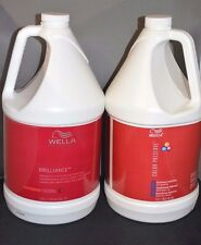 Wella Brilliance Shampoo and Color Preserve Conditioner Set (1 Gallon Each)