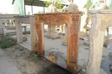 Hand Carved Marble Fireplace Mantel, Terra Cotta Local Beige Marble