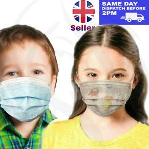 Kids Childrens Face Mask Disposable CE Mark 3 Ply White and blue colours
