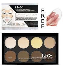 NYX Cosmetics Highlight & Contour Pro Powder Palette - Free Silicone Sponge