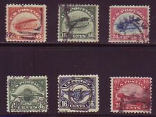Used #C1-C6 First Airmail Set Of All 6. Medium Fine 3. Scv $155