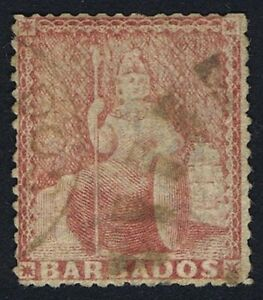 Barbados 1873 SG59 4d Dull Rose-Red Good Used Cat. £250.00
