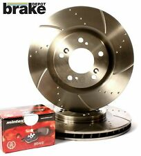 Front  Grooved Brake Discs with Mintex Pads for Honda S2000