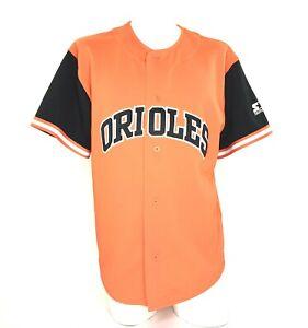 Starter Men's Baseball Jersey Baltimore Orioles MLB Blank Orange Vintage 90's M
