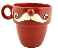Santa Mustache Coffee Tea Mug Cup Grasslands Road Christmas 12 oz