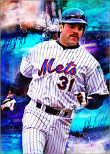 New listing 2020 Mike Piazza New York Mets 20/25 Art ACEO Sketch Print Card By:Q