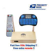 2020 Arabic TV Box Faster Free Backlit Keyboard and Extra Remote
