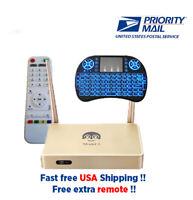 2020 Arabic TV Box Faster Free Backlit Keyboard and Extra Remote 100% Original