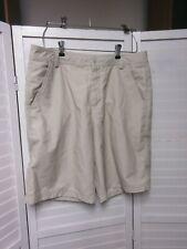 Men's Puma  Tan Khaki Herringbone golf shorts 34- 10.5 inseam