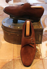 Alfred Sargent 'Eskdale' Brown Suede Monkstraps - UK 8.5FX