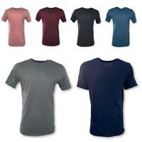 Men's T-Shirt Long HIPSTER Basic Fashion Tee Casual Hip Hop Crew Neck Pocket T