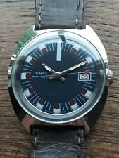 Timex Marlin Military Style Vintage Watch Very Rare Dial Fully Serviced&Timed