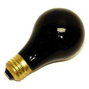 SATCO S3920 75W 120V INCAND. A19 BLACK LIGHT BULB E26 BASE(PACK OF 6)