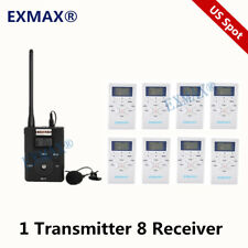 Fm Wireless Audio Tour Guide System For Stage Command Monitoring 1T8R Us Spot