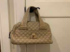 MARC JACOBS Beige Quilted Leather Shoulder Bag - Made in Italy