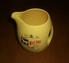 WHITE HORSE SCOTCH WHISKY YELLOW CERAMIC WATER PITCHER