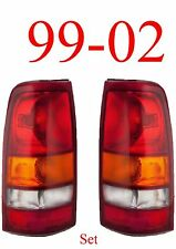 99 02 Silverado Tail Light Set, Assembly, Chevy Truck, GM2800173, GM2801173