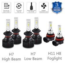 6x For BMW 323i 06-11 328i 2007-2016 LED H7 Headlight H11/H8 Fog Light Bulbs Kit
