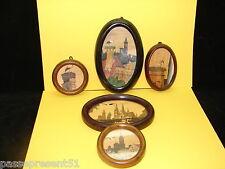 5 jolies anciennes peintures sur bois, Alsace, Reviol, Méal, Rodi, Mady