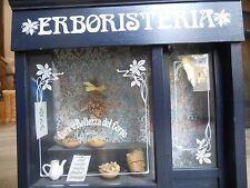 quadro luminoso negozio'Erboristeria',con ganci da appendere e presa elettrica.