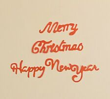 Brand New Merry Christmas Happy New Year Phrase Word Sentiment Die Cutter Set