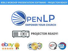 OpenLP Church Presentation Software - Worship - PROJECTOR READY! WINDOWS MAC