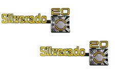 "1973-1980 Chevrolet Chevy Pickup Truck ""Silverado 20"" Fender Emblem Pair - NEW"