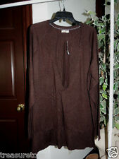 Womens Size Medium  * OLD NAVY *  Brown V-Neck Sweater  NWT