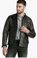 LUCKY BRAND Mens THE ACE Cafe Lthr Barnstormer Motorcycle Bomber Jacket Medium