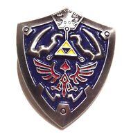 LEGEND OF ZELDA Hylian Crest Shield lapel pin button brooch Link Hyrule 2W