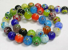 65 Wholesale Beads Millefiori Assorted Lot Bulk 6mm Floral Mixed Set