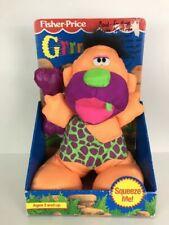 Fisher Grrrrunts Boulder Grunts Caveman Plush Toy Doll Vintage 90s