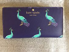 Kate Spade Harding Street Strut Your Stuff Peacock STACY Slim Wallet Bifold NWT