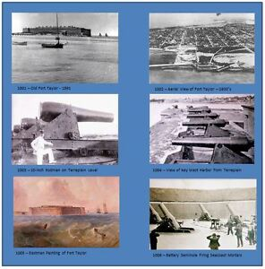 Postcards of Historic Photos of Fort Zachary Taylor