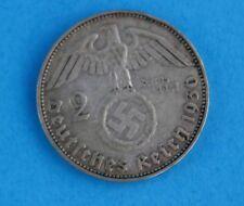 """2 Reichsmark """" 1936 J """" 625 Silbermünzen Jäger J. 366 Hindenburg selten RAR"""