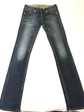 Jean G-STAR original femme denim bleu stretch coupe droite/straight T.34