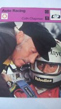 SPORTSCASTER RENCONTRE COLLECTABLE CARD  AUTO RACING COLIN CHAPMAN