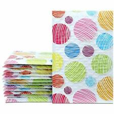 New listing 4x8 Inch 50pcs Poly Bubble Mailers Padded Envelopes Boutique Custom Bags Dot)