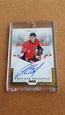 Rare Panini Private Signings hard signed Blue Ink Autograph Of Chris Neil