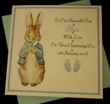 Handmade Personalised Boys Christening Card Godson Grandson Son nephew