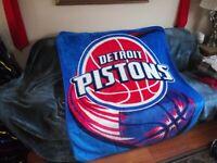 Michigan Detroit Tigers Handmade Fleece Tie Blanket 50 x 35