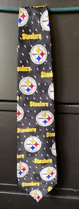 Team NFL Imported Silk Pittsburgh Steelers NeckTie Made In USA