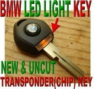 NEW UNCUT LED LIGHT VIRGIN CHIP KEY FOR BMW IMMOBILIZER TRANSPONDER IMMOBILIZER