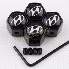 Antitheft BLACK Wheel Tire Valve Stem Air Cap FOR ix35 i30 Veloster VERNA ix55
